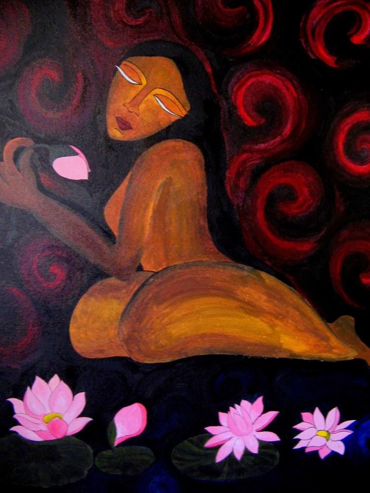 serenity acrylic on canvas 30x36