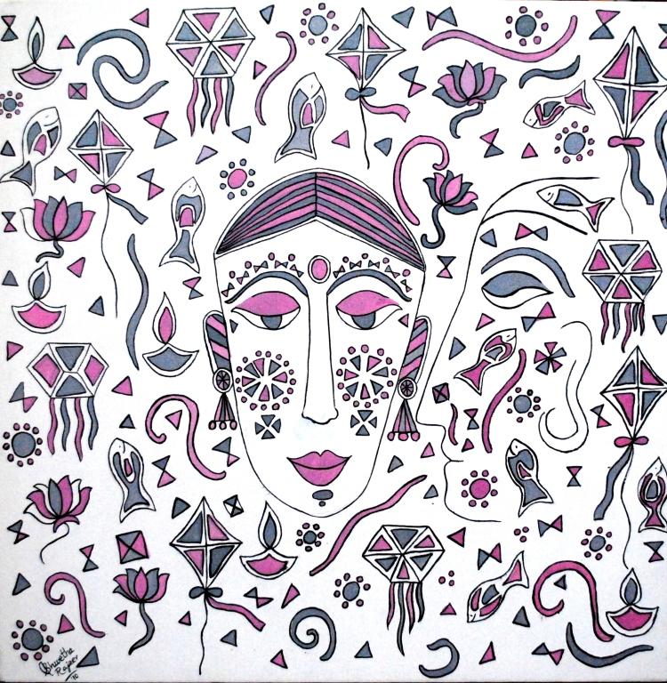 Into_her_world_acrylic_on_canvas_24x24